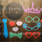 BIRTHDAY Photo Booth Props - 21 Piece Set - Birthdays, Parties, Anything
