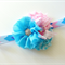 Pinks and Blues Baby Headband Girls Headband Flower Girl Photo Prop