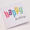 Handmade Birthday Card - Bright Happy Felt