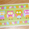 Blank female greeting card with owls