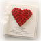 personalised anniversary card gift boxed red paper heart red