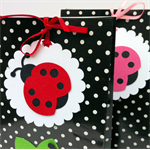 Lady bug gift tags. Baby shower, birthday party, cake pop tags, lady bird.