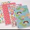 Set of 4 Blank Handmade Card - Girls Theme