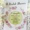 Custom Bridal Wedding Shower Invitation Romantic Roses and Doily