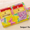 Fluoro Flower Tea Wallet - holds 4 teas