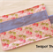 Pink Tea Wallet with Cherry pattern - holds 4 teas