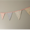 Pastel pink and blue Fabric bunting for nursery or baby shower, photography prop