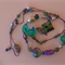 Spotted Green Jewel Necklace