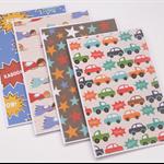 Set of 4 Blank Handmade Card - Boys Theme