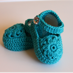 NB to 12M Crocheted Mary Jane Shoes Custom Colour Lots of colours