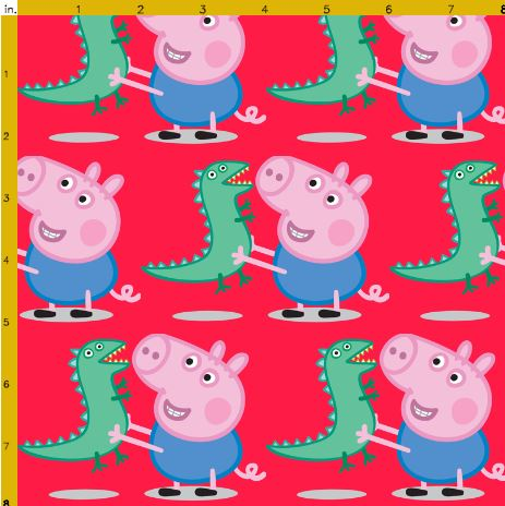 Peppa Pig and George Fabric | Jazzeira Designs | madeit.com.au : peppa pig quilting fabric - Adamdwight.com