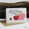 Awesome Teacher Thank You Apple (Red) Card - Blank Inside - Greeting Card