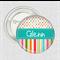 Name badge Candy Stripe pink