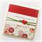 80th birthday card handmade oriental red