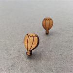SALE: Wooden Hot Air Balloon Earrings
