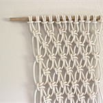 Macrame wall hanging, wall decor, fiber art, textile art, cotton, gift, textile