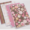Set of 4 Blank Handmade Card - Retro Glitter 1
