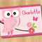 Personalised Girls Placemat - Sweet Owl
