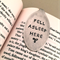 Recycled Silver Spoon Bookmark. Book Lovers Unique Flatware Hand Stamped Gift.