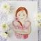 "Twins illustration Print "" Double Blessing"" 8x10 inch Motherhood Art"
