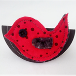 Oh so tweet....Birdy brooch or scarf pin FREE POSTAGE