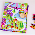 Includes Crayons - Princess Castle Crayon Colouring Wallet