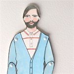 Fathers day gift idea! Custom paper doll illustrated to look like Dad!