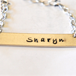 Nina Necklace Offspring Style Bar Necklace Sterling Silver Name Necklace