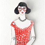 Custom paper doll illustration