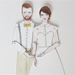 Wedding Custom paper doll illustration