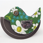 Oh so tweet....Birdy brooch or scarf pin FREE POSTAGE