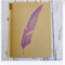 Purple Feather - Hand Stamped & Glitter Embossed Blank Page Journal Notebook