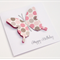 Handmade Birthday Card - Double layer butterfly