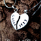 BEST FRIENDS Personalised love heart necklace with friends names added