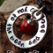 RED CORAL BALL CHARM PERSONALISED NECKLACE/ PENDANT HAND STAMPED JEWELLERY