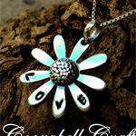 """personalised necklace / pendant, hand stamped jewellery daisy """"LOVE"""" silver"""