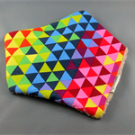 Bandana Dribble Bib - Rainbow Triangles