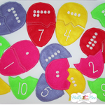 Educational Felt Counting Eggs