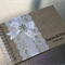 A5 Personalised Burlap & Lace Guestbook with diamante & pearl cluster