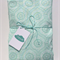 Aqua Mint Damask Fitted Cot Sheet for Standard Size Cot