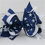 """Loopy stacked bow - """"White Stars"""""""