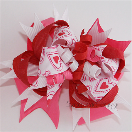 "Super Loopy Stacked Bows - ""Love"""