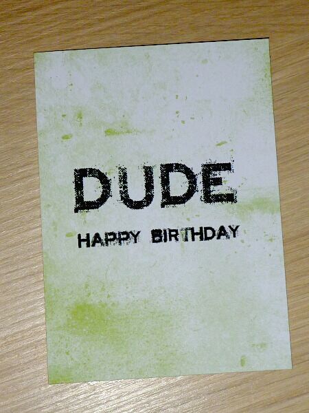 Male Or Teenage Boy Happy Birthday Card