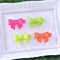 Neon Bow Hair Clips - Set of 4