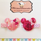 Pair of Sequin Minnie Mouse clips