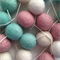 Felt Ball Garland Turquoise, Light Pink & White