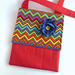 Red Messenger Bag Ipad Sleeve Crossbody Bag