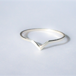 Sterling silver tear drop ring, statement ring