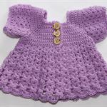 Crocheted Bella Rebekah Cardigan. Size 0-3months.