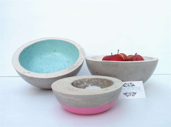 Lunar Concrete Key Fruit Bowl Urban Decor